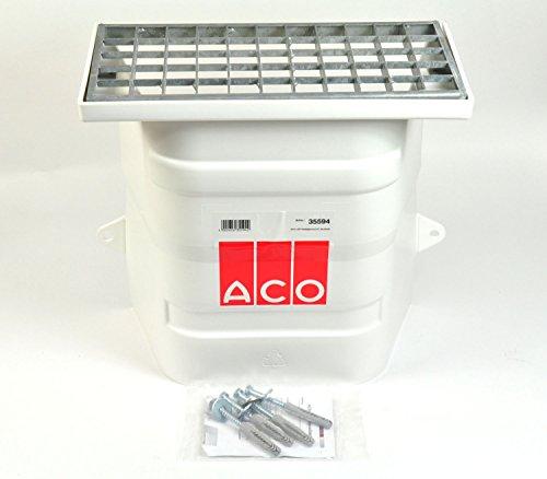 ACO Lüftungsschacht 40x40 ohne Boden Kellerschacht mit Maschenrost 30/30 Lüftung Keller