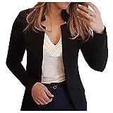 Womens Blazers Casual,Womens Blazers for Work Casual Lightweight Slim Oversized Blazers Open Cardigan Oversized Jackets Suit for Women Business Black