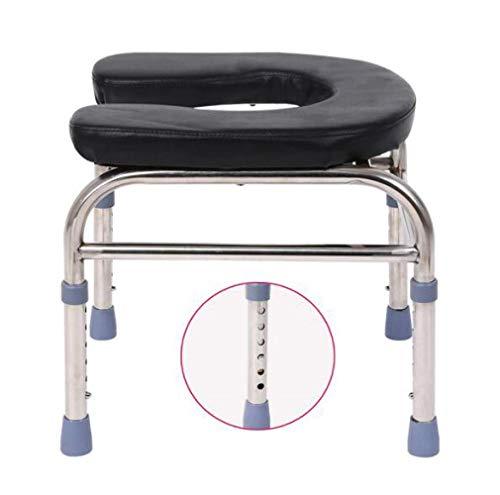 DFKDGL Toilettenstuhl Schwerer Nachttisch, extra breit, höhenverstellbar, Sitz für übergewichtige Erwachsene, schweres Gewicht 400 Pfund, sicherer Rutschfester WM-Lihgt/A.