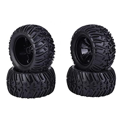 4pcs 125mm RC CARRILLOS DE COCHES Y Tipo de rueda Reemplazos de neumáticos para 1/10 Control remoto Modelo de automóvil RC Juguete RC Coche Piezas de repuesto de Coche Neumático ( Color : Black )