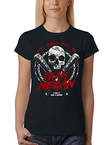 clothinx Damen T-Shirt Fit Team Negan Schwarz Gr. M