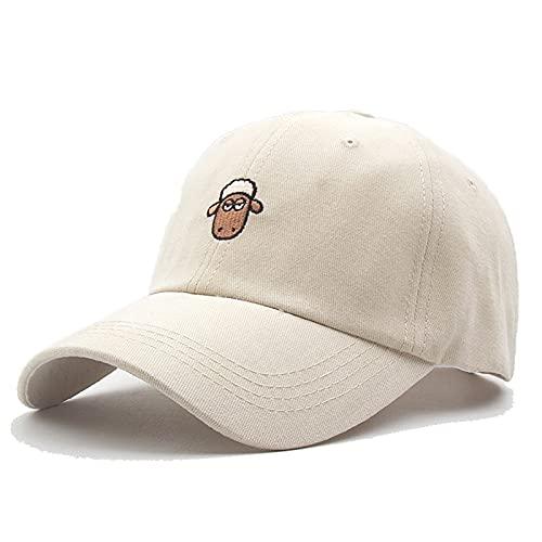 KeepSa Algodón Gorras de Mujer Beisbol,6 Paneles Animales Bordado Hat Verano Sombra de Sol Ajustable Transpirable Al Aire Libre Cap Sombrero