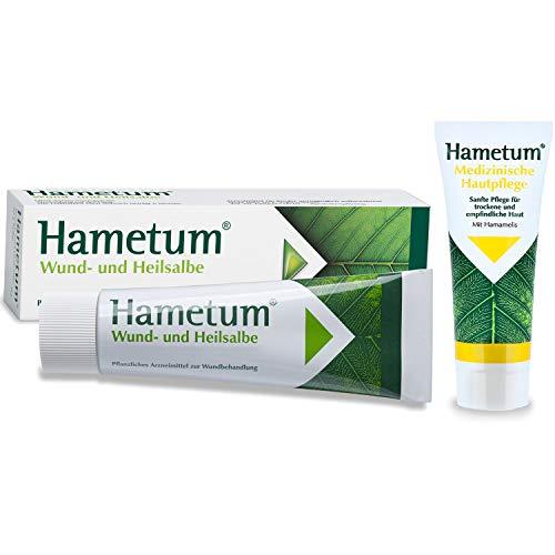 Hametum Wund- und Heilsalbe 1 x 100g + Aktionszugabe zum Probieren med. Hautpflege zur Unterstützung der Wundheilung und Pflege reifer Haut 1 x 20g