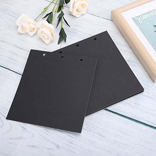 KUIDAMOS Papel de Dibujo Pesado sin ácido y de excelente Valor para los Amantes del Arte(Black Cardboard Core)