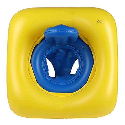 litthb Anneau de siège pour bébé, Anneau de siège carré, Stable et Confortable, Protection Contre la Chaleur et Le Froid, avec Pompe, adapté aux Nourrissons de 6 à 36 Mois