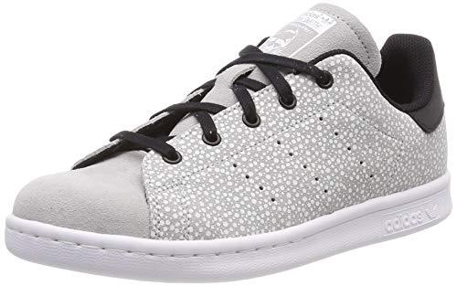 adidas Unisex-Kinder Stan Smith C Gymnastikschuhe, Grau (Grey Two F17/Core Black), 30 EU