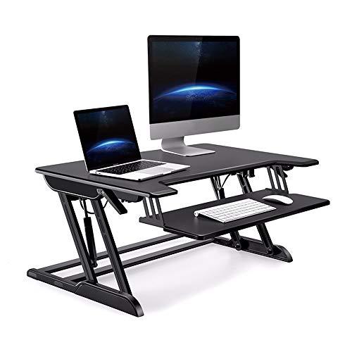 SMLCTY Stand-up-Computer-Tisch, Klapptisch, Fahrbare Werkbank, Erhöhte Erhebend Schreibtisch, ergonomischer Gesundes Büro, Alternate Sitzen und Stehen, Doppelgasfeder Assist, einfacher Lifting