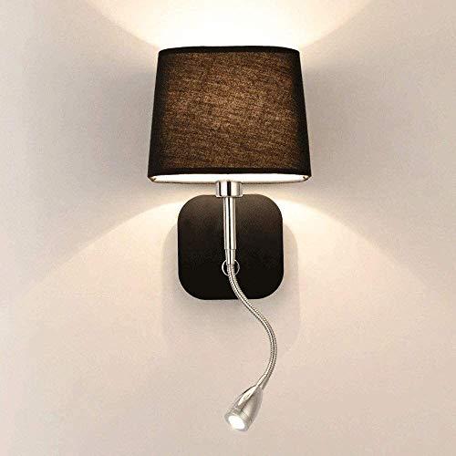 De Nordic Spotlight pared LED de lectura segmentada accesorio de interruptor de pared Light aplique pantalla de la tela de la pared decorativos Niños iluminación de la sala de noche dormitorio lámpara