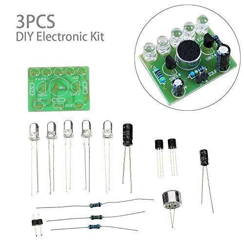 DHXX Artikel for 3pcs DIY Sprachgesteuerte Melody Licht 5MM Highlight DIY LED-Blitz for elektronisches Training Kit