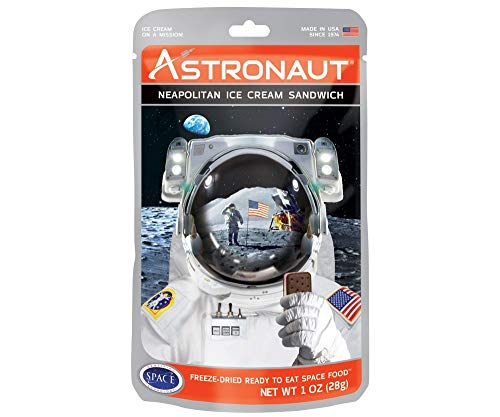 American Outdoor Products Astronaut Neapolitan Ice Cream Sandwich, 1.0 oz, (Pack of 10)