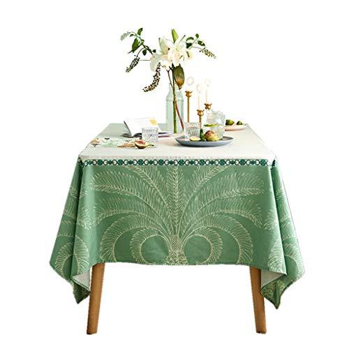 SKkyer Linnen Tafelkleed Italiaans Europese Tafeldoeken Koffie Tafelkleden Woonkamer Groen afdrukken