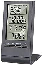 Termómetro Higrómetro Termómetro higrómetro indicador indicador automático electrónico temperatura humedad monitor de la estación meteorológica reloj de alarma interior Digital Termohigrómetro