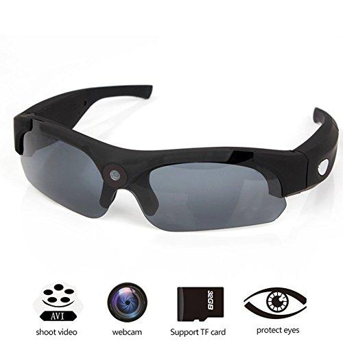 OOZIMO Brillenkameras - Volles HD 720P / 1080P 8MP Kamera Tragbar Videokamera Zum Outdoor-Sportarten,Black