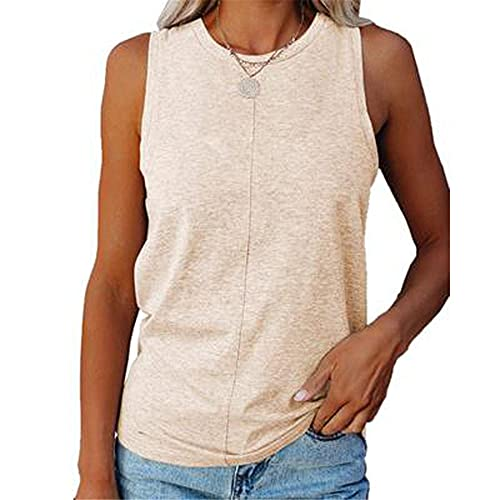 WAQD Women's Summer Tie-Dyed Vest Tank Tops Sleeveless Camisole Tee Shirts Ladies Athletic Running Gym Sportwear Casual Loose Sleeveless Blouse T Shirts Women Vest Tops Sleeveless T-Shirt Khaki