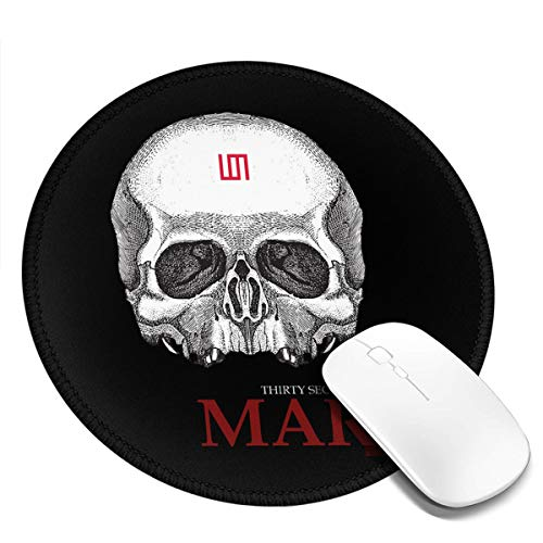 30 Thirty Seconds to Mars Skull Military T-Shirt Round Mouse Mat with Designs Natural Rubber Round Mouse Pad Mousepad Gaming Mouse Pad