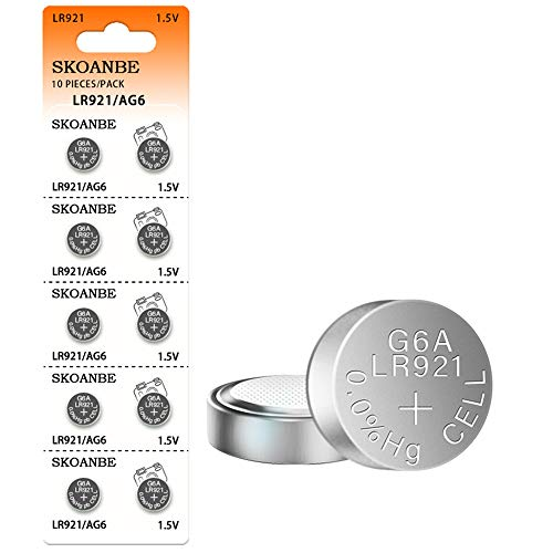 SKOANBE 10PCS 1.5V 371 370 SR920SW LR921 AG6 Button Coin Cell Watch Battery