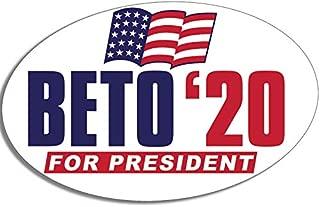 American Vinyl Oval Beto '20 for President Sticker (Logo Presidential Political 2020 Left)