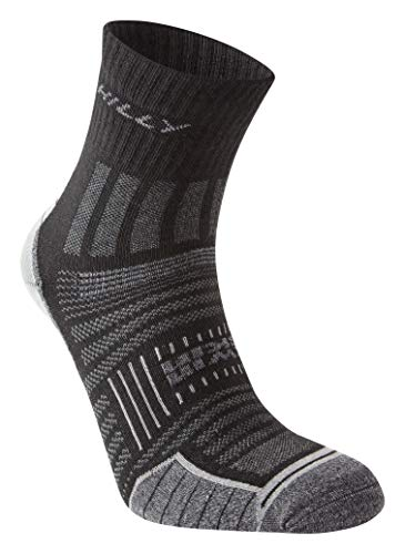 Hilly Twin Skin Anklet Socks - Black/Grey Marl, Large