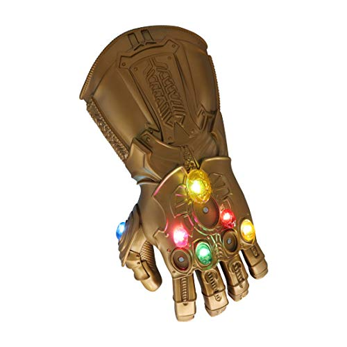 Bulex Iron Man Infinity Gauntlet for Kids with Removable Magnet Infinity Gem Stones Electronic Fist...
