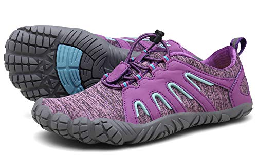Zapatillas de Trail Running Barefoot Unisex-Adulto Minimalistas Zapatillas de Deporte Exterior Interior púrpura39