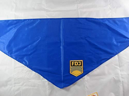 NVA Halstuch blau Aufnäher FDJ DDR Ostalgie -Artikel