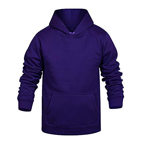 Suéter con capucha para hombre con capucha y cuello redondo