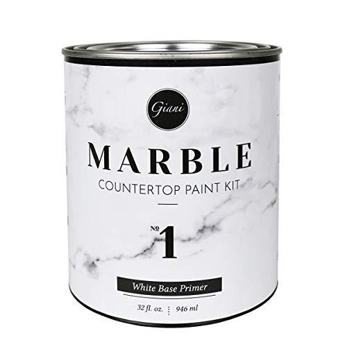 Giani FG-MB WHT PRMR Marble Countertop Paint Step 1 White Primer, 32 Fl Oz (Pack of 1)