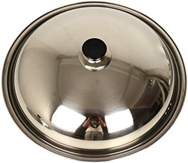 WJFQ Couvercle Pan Remplacement Pan Couvercle Casserole Couvercle en Acier Inoxydable Universelle POELES Wok Remplacer Pot Couvercles for Batterie de Cuisine (Size : 28CM)