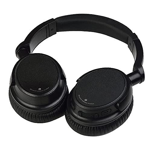 Auriculares inalámbricos con Bluetooth para Colocar sobre Las Orejas CSR4.0 Auriculares con Sonido estéreo de Alta fidelidad para Viajes de Trabajo - Negro 1 TAMAÑO