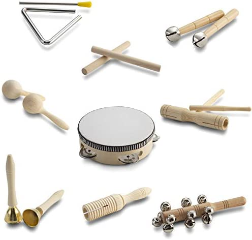 Toddler Wooden Musical Instruments Ages 1 6 Baby Montessori Music Toys 6 12 9 18 Months Infant product image