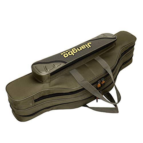 Fishing-Plus Oxford-Stofftasche Angeltaschen Anglertasche Wasserdichte Solide Und Langlebig Praktische Tragetasche Geeignet FüR Angler,Double-Layer,80cm