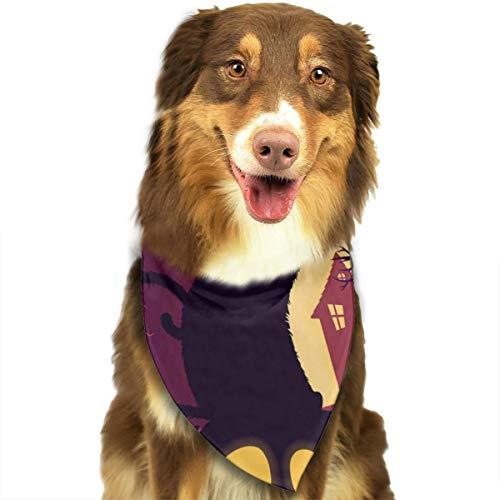 Jutess Halloween volle maan met Jack O lantaarn en zwarte hond kat Bandana driehoek slabbetjes sjaal huisdier Kerchief halsdoek Set voor kleine tot grote hond katten gepersonaliseerd