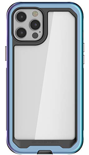 Ghostek Atomic Slim Designed for iPhone 12 Pro Max Case with Protective Metal Bumper Made of Super Tough Lightweight Military Grade Aluminum Alloy, iPhone 12 Pro Max 5G (6.7 Inch) (Prismatic)