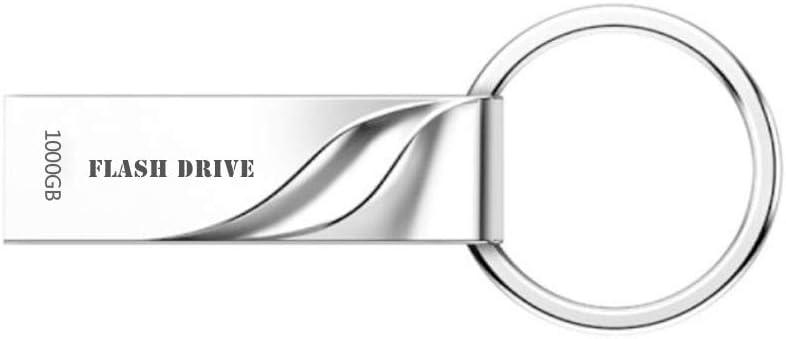 Metal USB Flash Drive 1000GB Thumb Drive Pen Drive Waterproof Memory Stick with Keychain