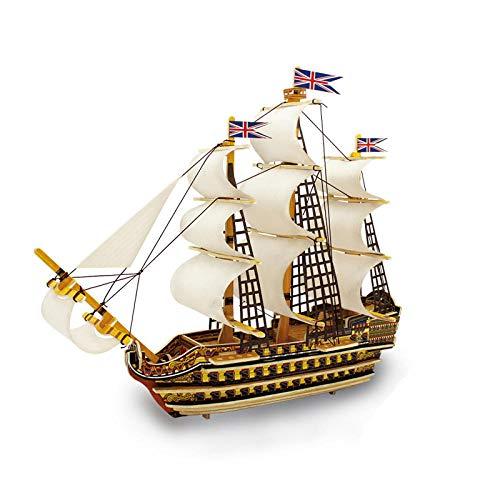 Wasserfahrzeug-Modellbausätze Model Schiff Building Wooden Scale Model Ship Children S Gift Royal Victory Santa Maria Gothenburg Battleships 3D Boats Model Kits Toy