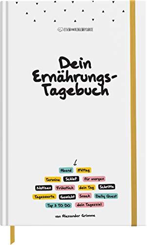 Dein Ernährungstagebuch (Daily Food Diary mit Termin- & Ernährungsplaner zum Ausfüllen) A5 Hardcover - 14,8 x 21cm
