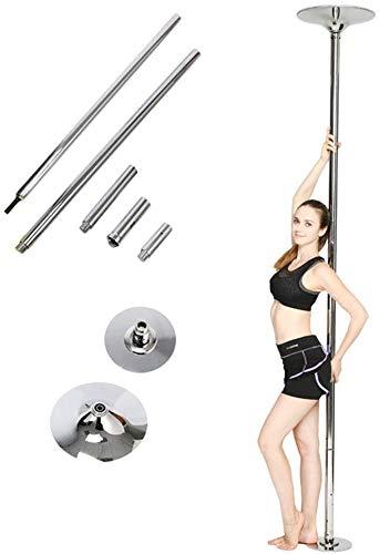 Femor Pole Dance Barra para Baile Sexies de Acero Inoxidable, Diámetro de 45mm, Longitud de 2.235m - 2.745m, Barra de Baile Giratoria/Fija,Ideal para Ejercitarse y Practicar Giros Dinámicos, Adecuada para Casa, Gimnasio o Bar,Carga máxima 150 kg