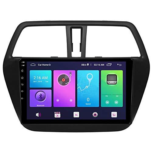 Nav Android 10.0 Car Stereo Double DIN para Suzuki SX4 2 S-Cross 2014-2017 Navegación GPS Unidad Principal de 10 Pulgadas Reproductor Multimedia MP5 Receptor de Video y Radio con 4G WiFi DSP Carplay