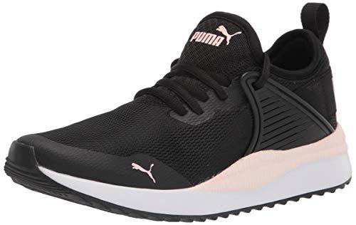 PUMA womens Pacer Next Cage Sneaker, Puma Black-pink Dogwood, 7 US