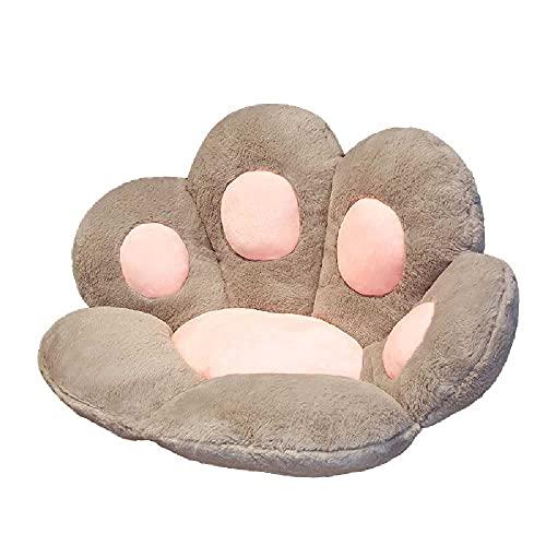 N\C Cojín de pata de gato cojín de asiento con forma de pata de gato perezoso sofá pata silla cojín niño sofá 27,5 x 23,15,2 cm