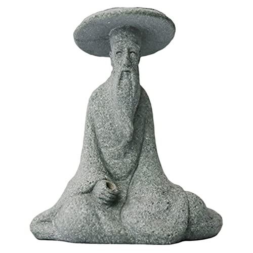 Cabilock Arenisca Pescador Figuras de Pesca Figuras de Hadas Estatuas de Jardín Miniatura Ornamento de Jardín para DIY Caja de Zen Jardín Decoración de Terrario Decoración de