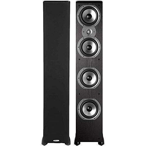 Polk Audio TSi500 High Performance Tower Speakers with Four 6-1/2' Drivers - Pair (Black)
