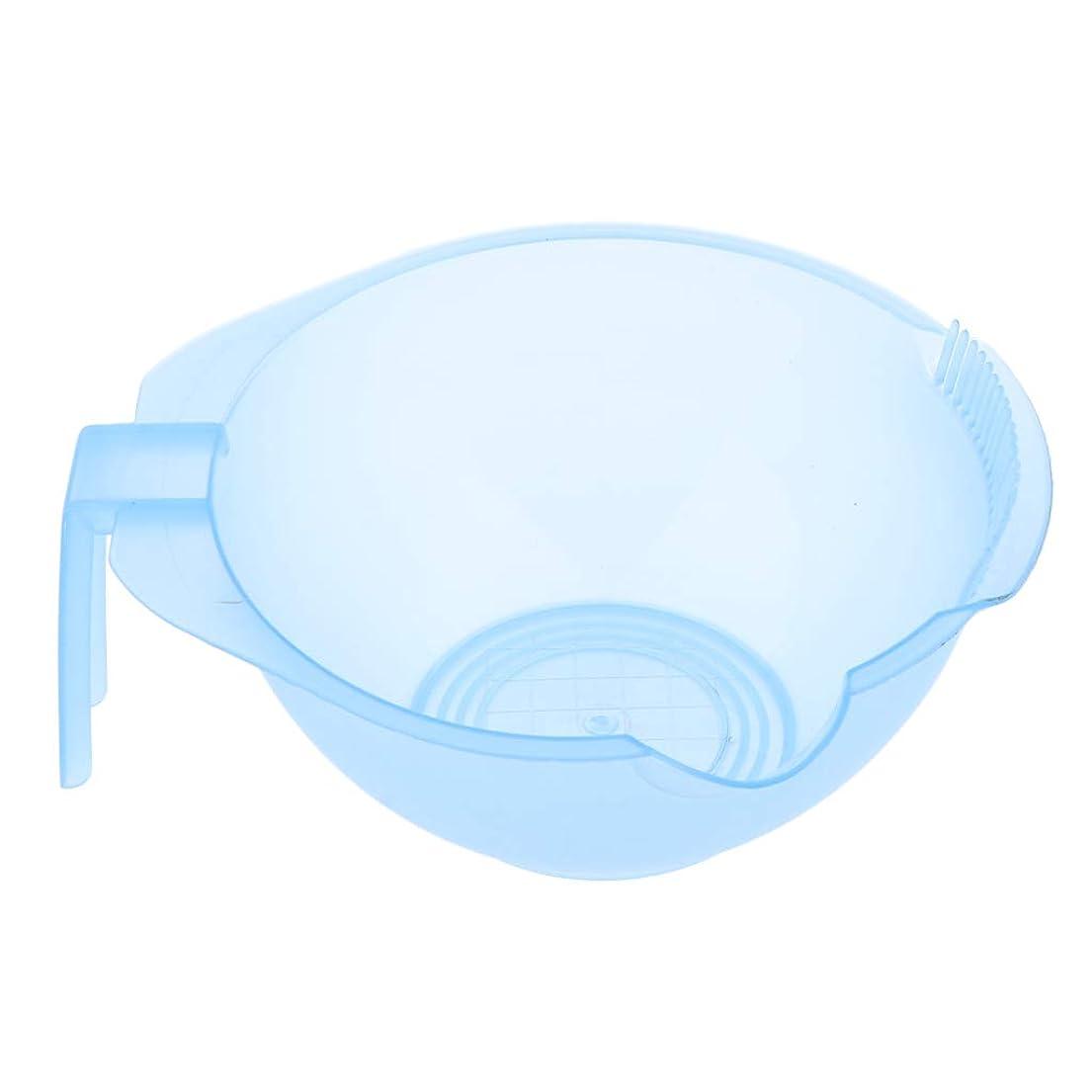 マークされた毎月レタスヘアダイ カップ ヘアカラーボウル 染料クリーム ミキシングボウル プラスチック 5色選べ - 青