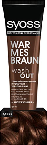 SYOSS Washout Stufe 1 Warmes Braun, temporäre Haarfarbe, 1er Pack (1 x 150 ml)