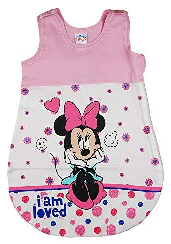 Baby Mädchen ärmelloser Sommer-Schlafsack mit Minnie Mouse Motiv von Disney Baby (Modell 1, 80-86)
