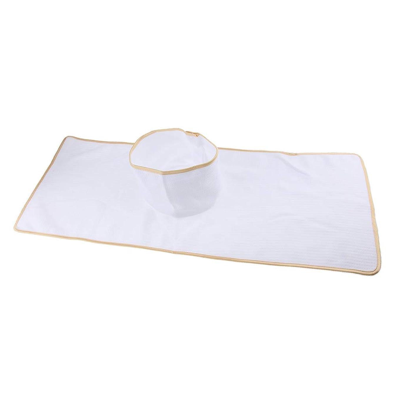 振り向く繰り返す天皇Baoblaze マッサージテーブルカバー シート パッド 顔の穴付き 再使用可能 約90×35cm 全3色 - 白