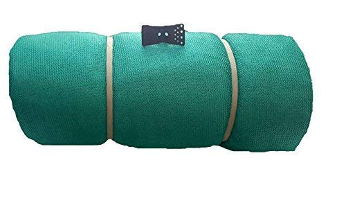 Unique Plastic 50% Sun Blockage Shade Net with Gripping Clips (2m x 5m, Green)