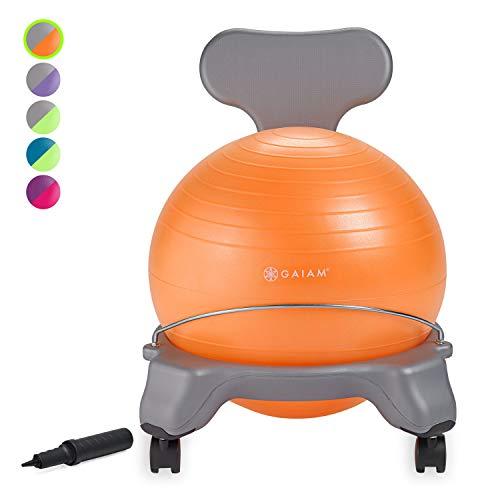 Gaiam Kids Balance Ball Chair - Classic Children's Stability Ball Chair, Alternative School...