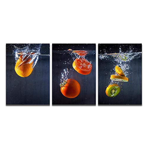 Lienzo Pintura Arte de la pared Ciruela Tomate Fruta confitada Carteles e impresiones Cuadros de pared para la decoración de la sala de estar Decoración del hogar 50x70cmx3 Sin marco