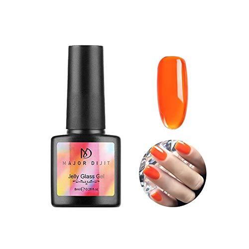 Kristallgel-Nagellack - Candy Jelly Transluzente Farben Tränken Sie UV-LED-Gelpoliermittel für Nail Art Maniküre - Geeignet für Party, Zuhause, tägliche Arbeit